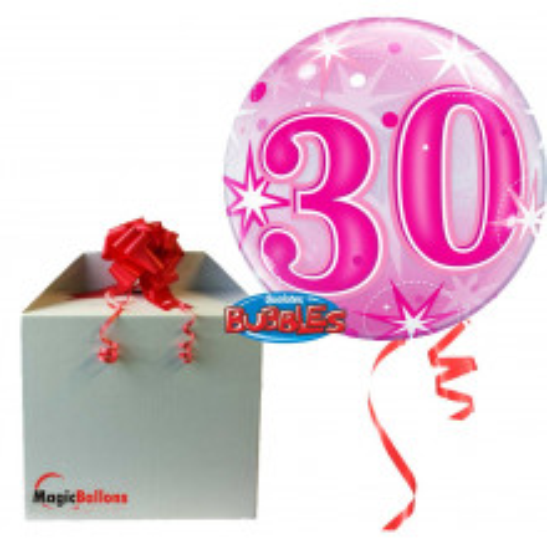 30 Pink Starbust Sparkle - b.balon v paketu