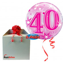 50 Pink Starbust Sparkle - b.balloon in a package