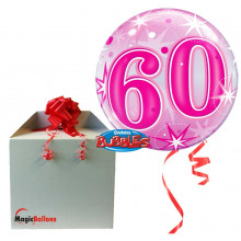 60 Pink Starbust Sparkle - b.balloon in a package