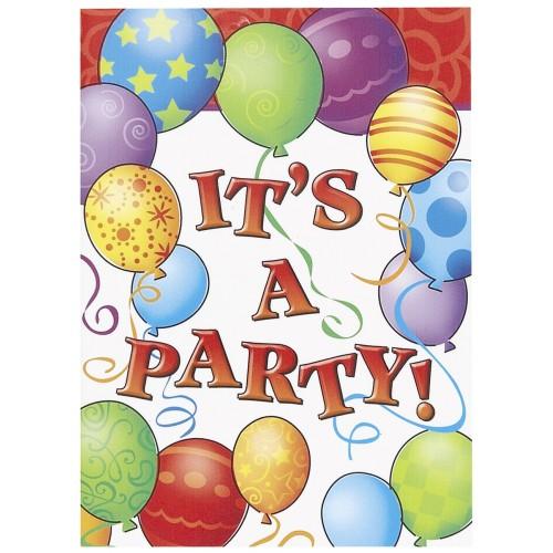 Birthday Balloons- invitations
