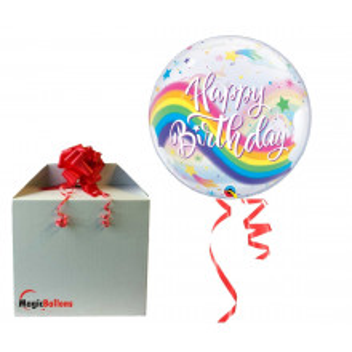 Birhday Rainbow Unicorn - b.balloon in a package
