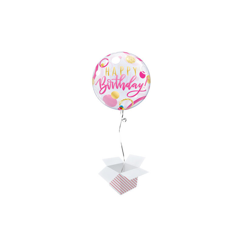 BDay Pink & Gold dot - b.balloon in a package