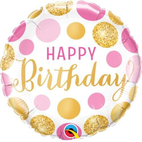 Birthday Pink&Gold Dots