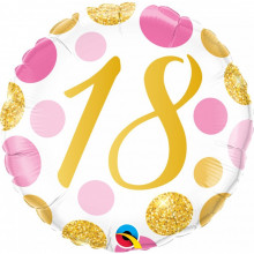 18 Pink&Gold Dots