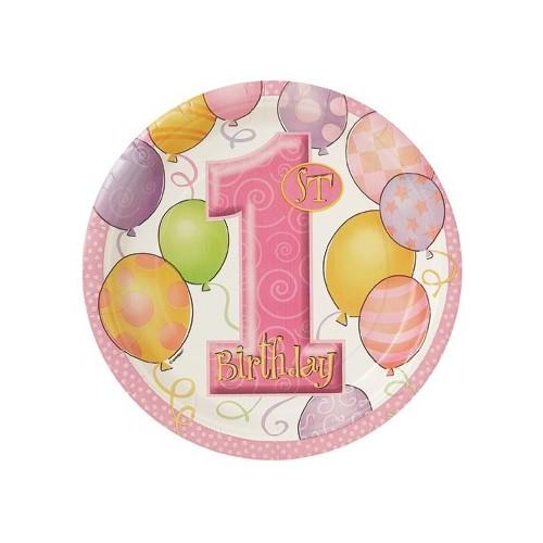 Birthday Balloons  plate 23cm
