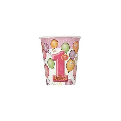 First birthday pink kozarčki