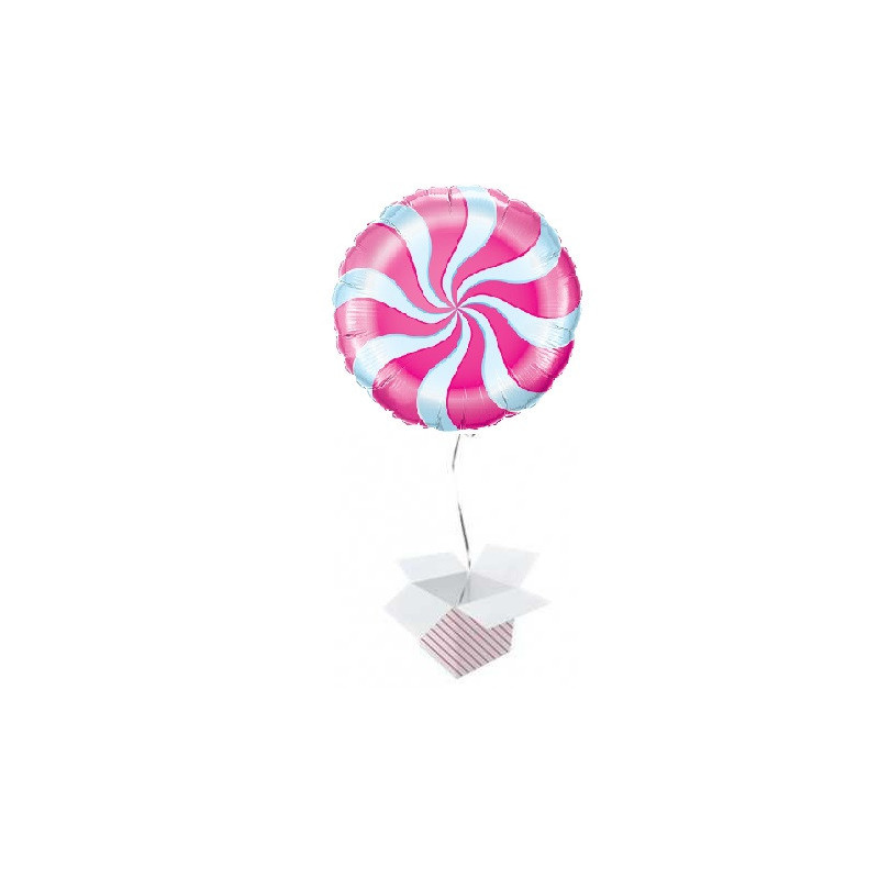 Candy Swirl Magenta - foil balloon in a package