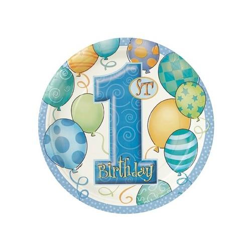 First birthday rosa - Teller 23cm
