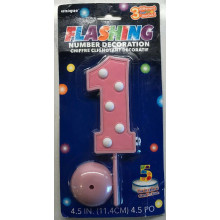 copy of Flashing Number 1 Cake Topper Decoration