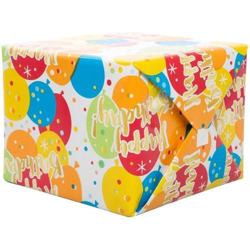 Glitz Gold Birthday gift wrap