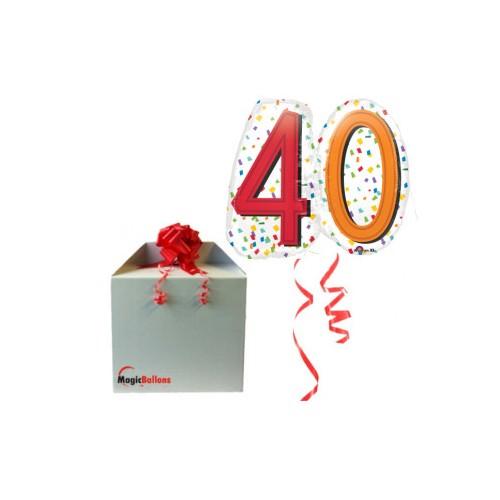 40 Mavrični konfeti Super Oblika - folija balon v paketu