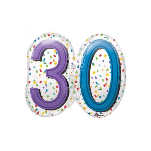 30 Mavrične konfete Super oblika - Folija balon