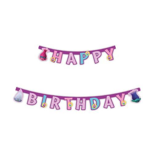 Trolls Happy birthday banner