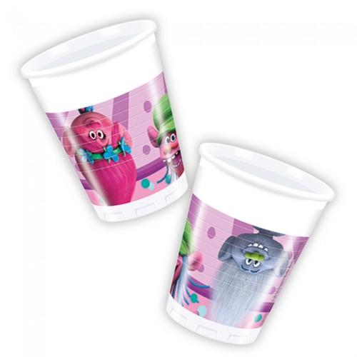 Trolls plastic cups
