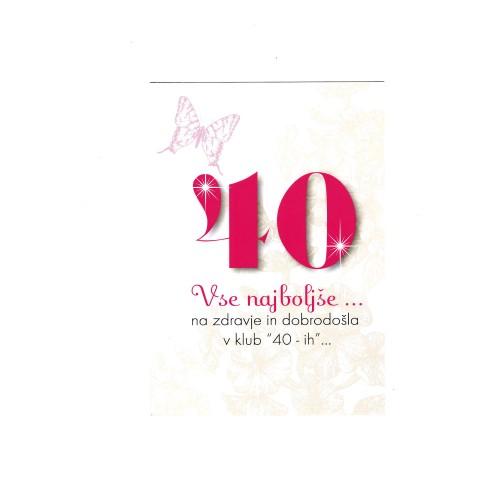 Grußkarte Vse najboljše 40