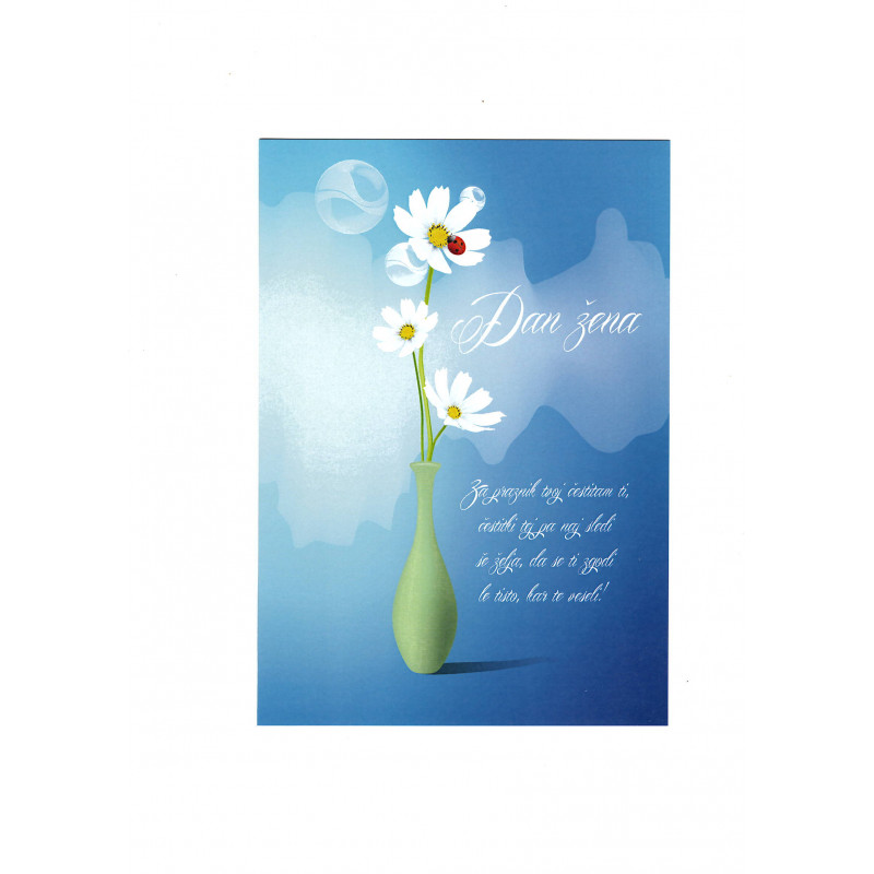 Greeting card - Dan žena