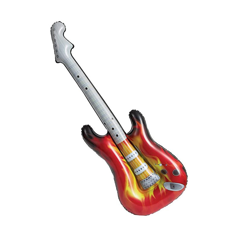 Inflatable electric guitar