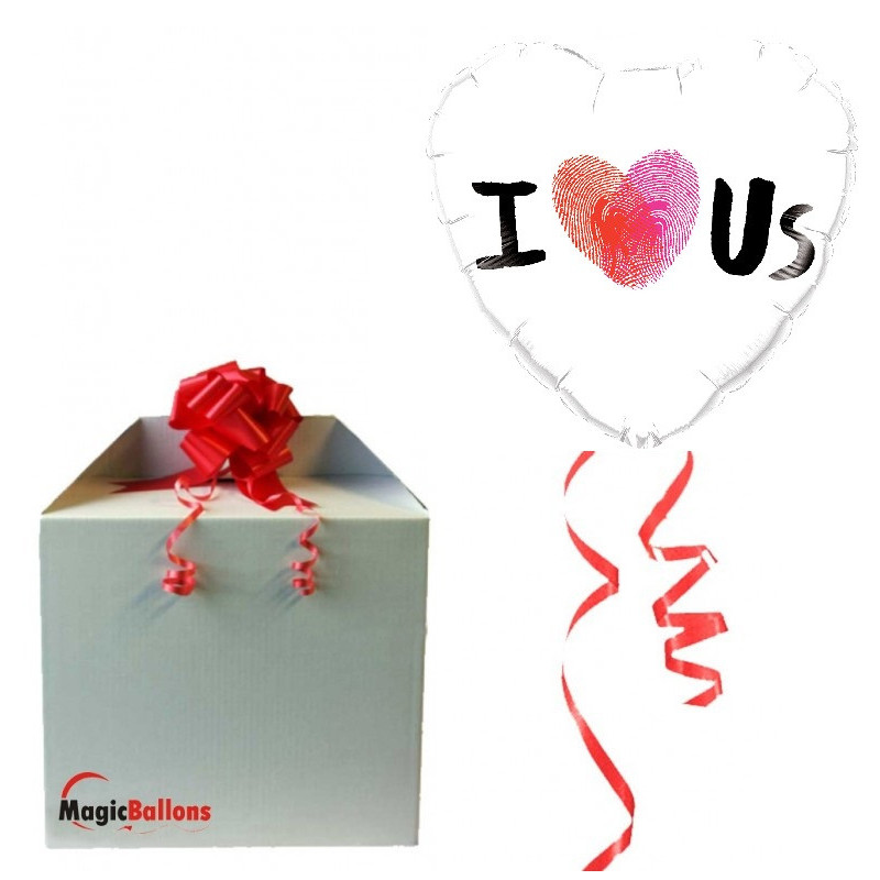 I LOVE US - foil balloon in paket