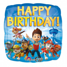 Paw Patrol Happy Birthday - foil balloon in a package