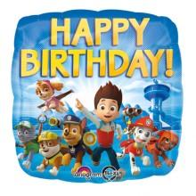Paw Patrol Happy Birthday - foil balloon