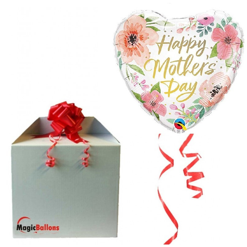 Happy Mothers day Pink Floral - foil balloon in a package