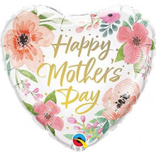 Happy Mothers day Pink Floral - foil balloon