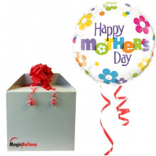 Mother's Day Fun Flowers - foil balloon in a package