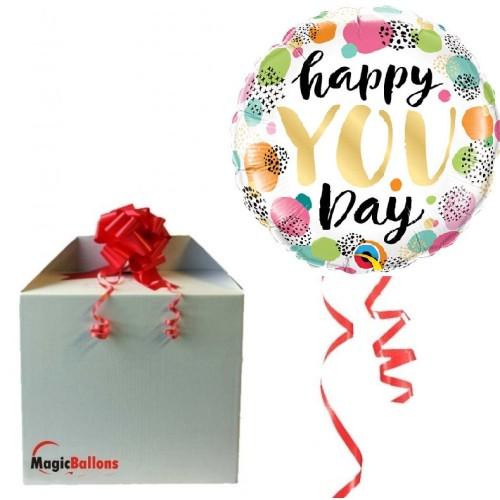 Happy you day - Folienballon In Paket