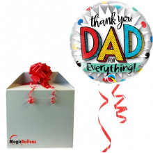 Thank you dad for everything! - foil balloon in a package