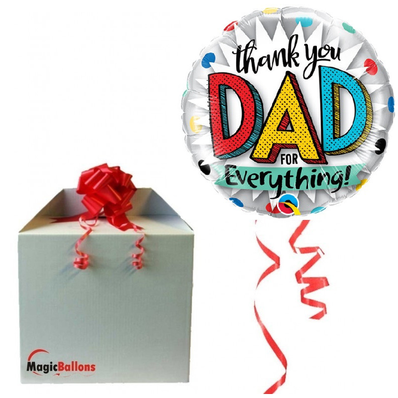 Thank you dad for everything! - Folienballon In Paket