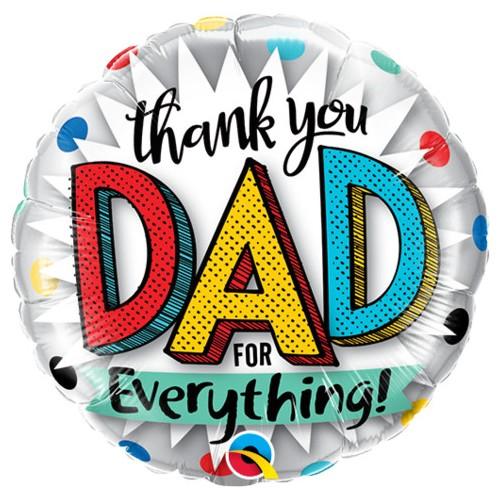 Thank you dad for everything! - folija balon