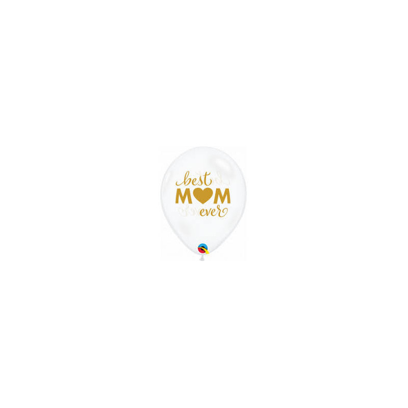 Best MOM ever - diamond clear lateks baloni