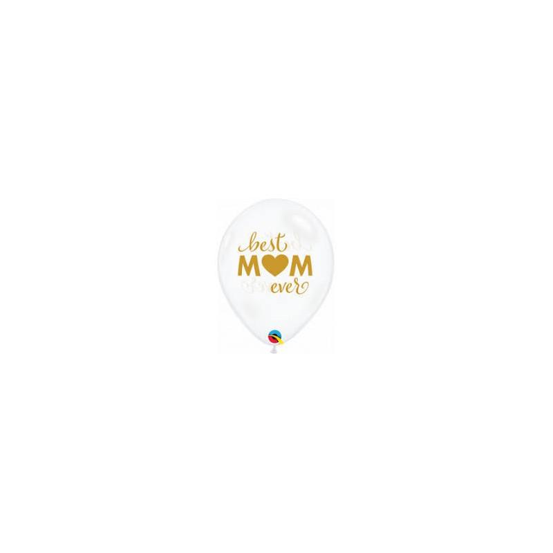 Best MOM ever - Diamond clear latex balloons