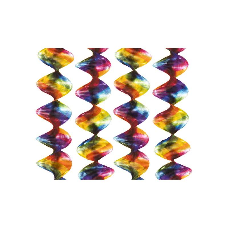 Rainbow swirl hanging decoration