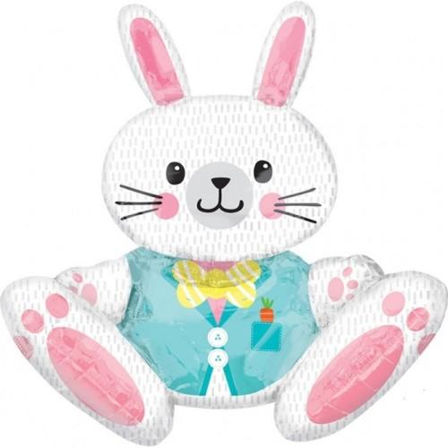Large Sitting Bunny -  jumbo foil balloon