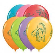 Dinosaurs in action - latex balloons