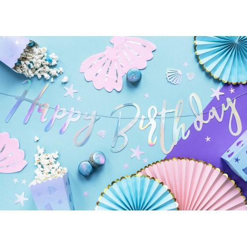 Banner Happy Birthday - iridescent