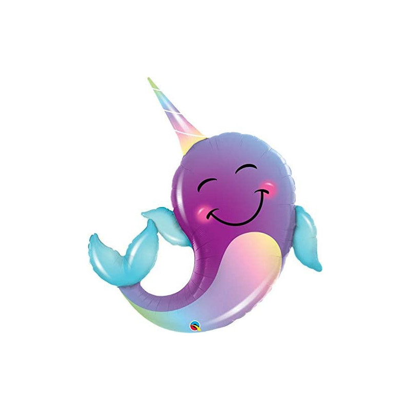 Narwhal - foil balloon