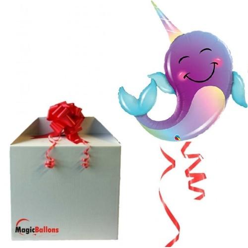 Narwhal - Folienballon in Paket