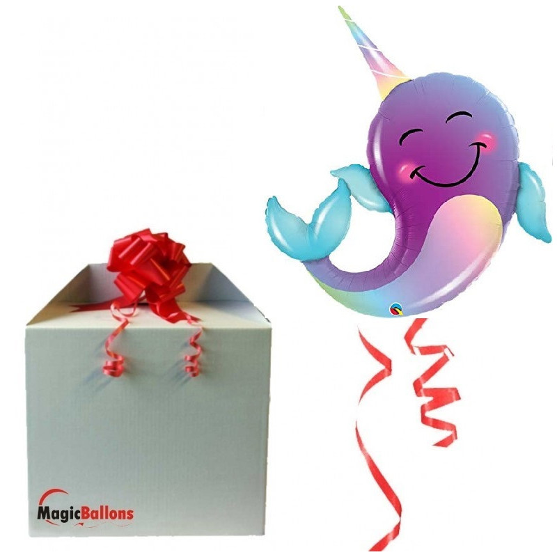 Narwhal - foil balloon in a package