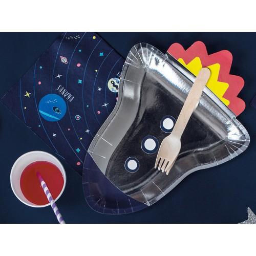Paper plates - Space rocket