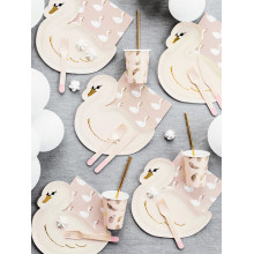 Paper plates - Swan
