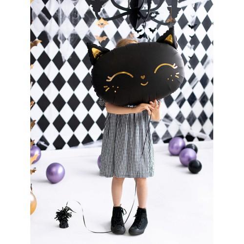 Black cat - foil balloon