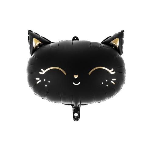 Črna mačka - mat folija balon v paketu