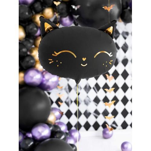 Black cat - matt foil balloon