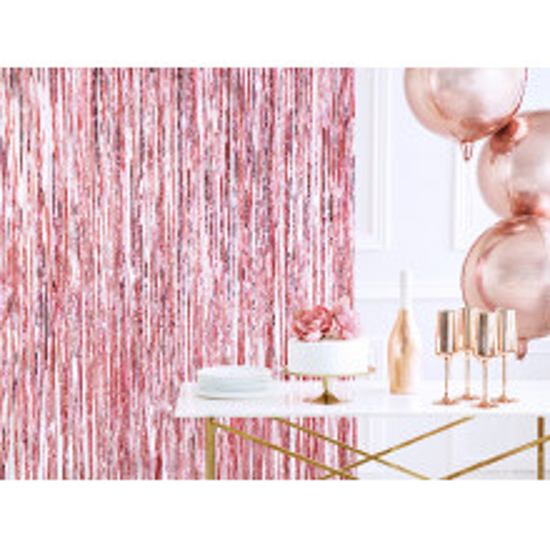 Shimmer curtains - rose gold