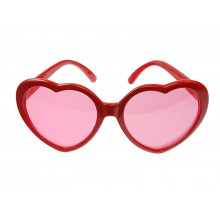Glasses Hearts - red