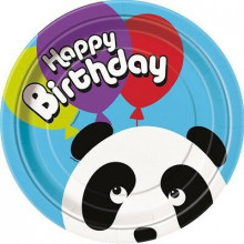 Panda paper plates 23 cm