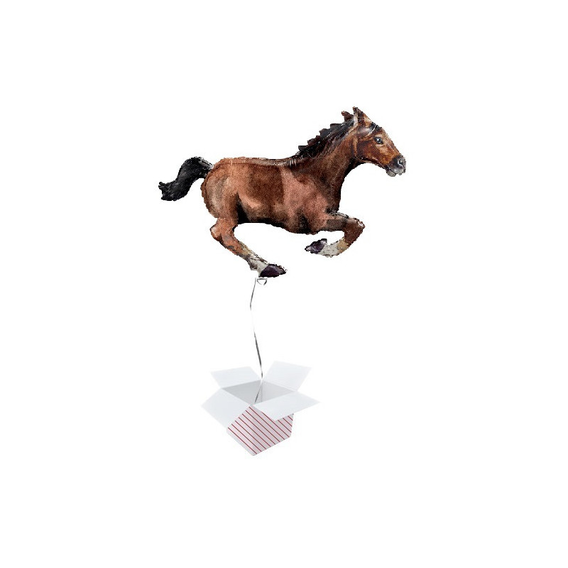 Galloping Horse - foil balloon in a package