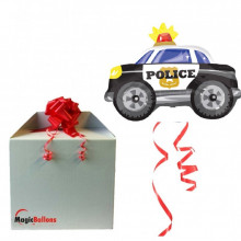 Police car - foil balloon in a package